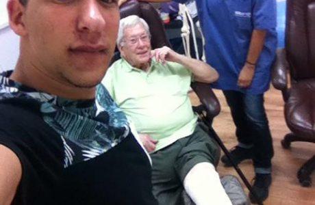 ישראל, בן 88, פצע קשה ריפוי ברגל