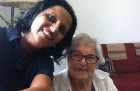שושנה אלקבץ מטופלת עצמאית פעילה בת 84