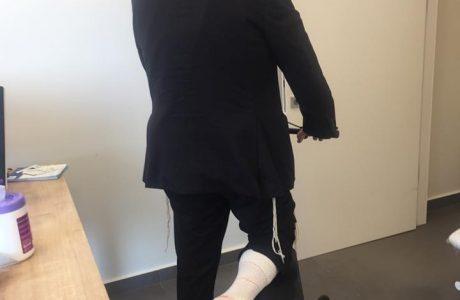 רגל סכרתית עם כיב בפלנטר בכף הרגל